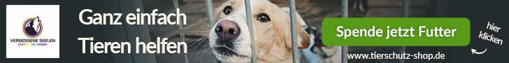 Tierfutter bei Tierschutzshop spenden!